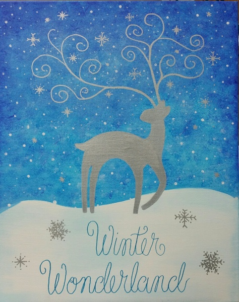 Winter Magical Reindeer