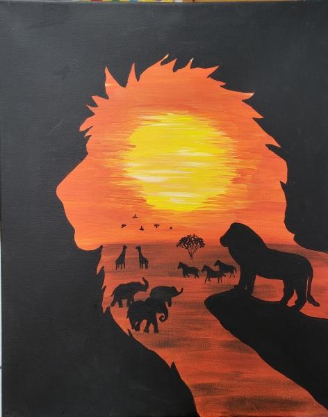 Outline Lion King