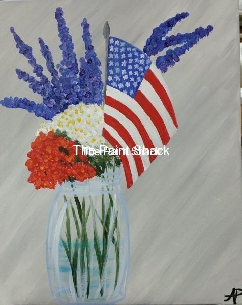 Flag in a Mason Jar