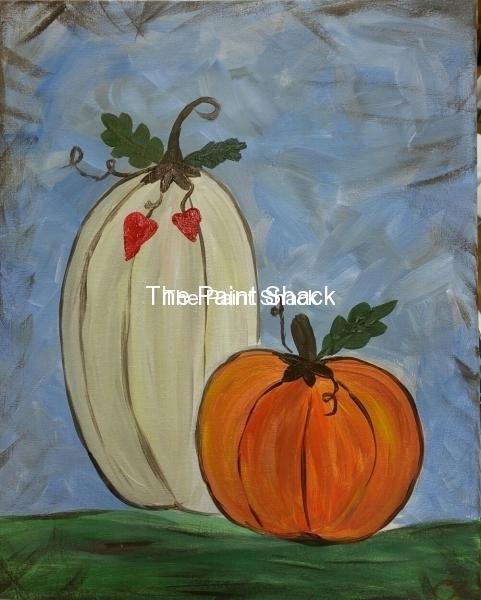 Fall - Rustic Pumpkins - blue