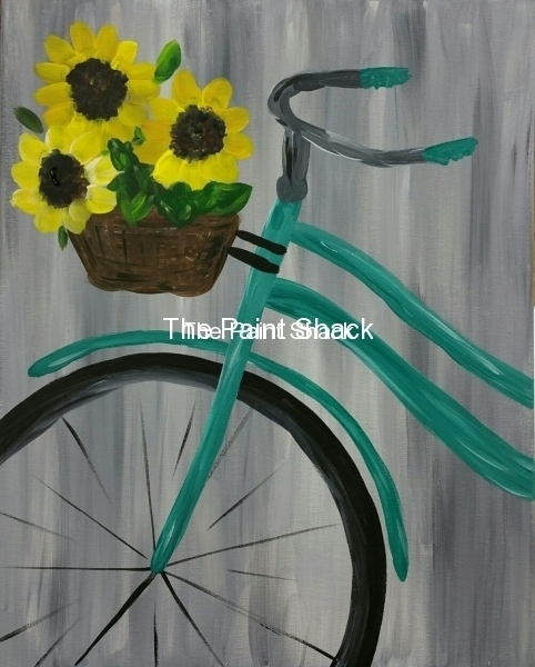 Bike with Sunflowers