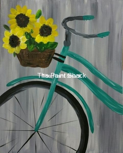 Bike with Sunflowers