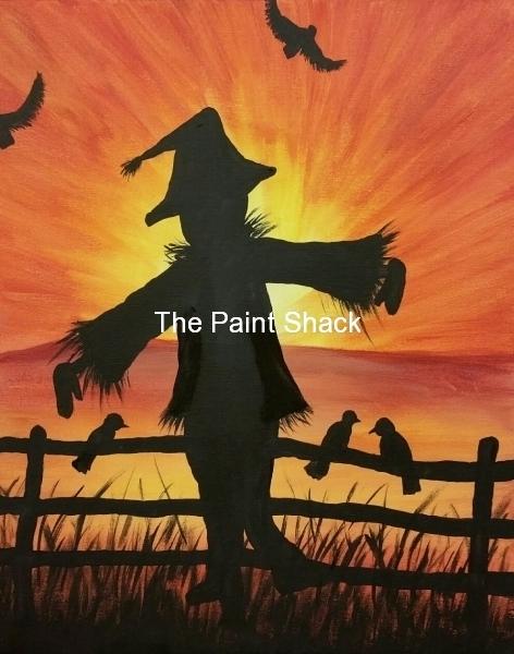 Fall - Sunset Scarcrow