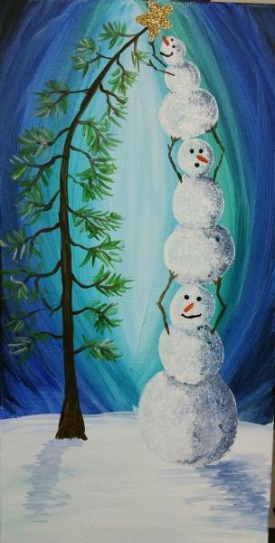 Winter -Stacked Snowmen