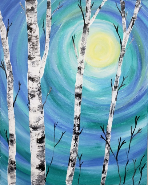 Lovely Birch (blue/teal)