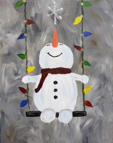 Winter Swinging Snowman