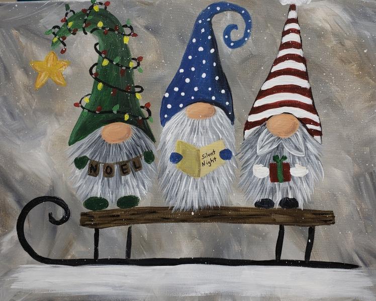 Winter Sledding Gnomes