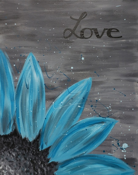 Teal Flower Bliss