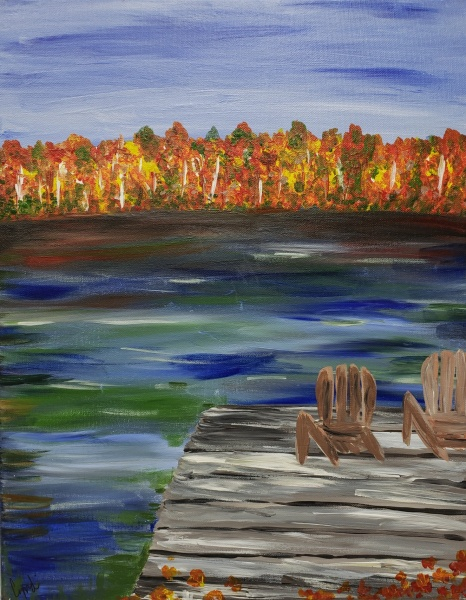 Fall - Fall trees from the Dock
