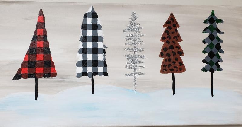 Winter Trees buffalo Plaid