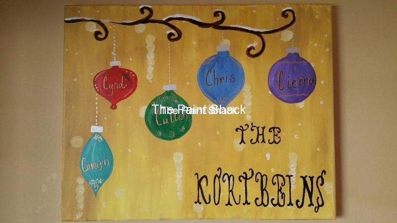 Winter - Name Ornaments