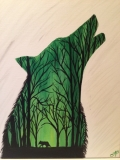 Outline - Wolf at Twilight