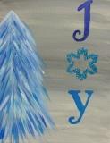 Winter  Joy Tree Blue