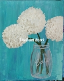 Hydrangeas in a Ball Jar