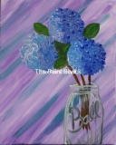 Hydrangeas in a Ball Jar 1