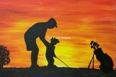 Sunset Golfing