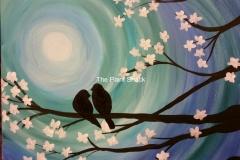 Cherry Blossom Amore - blue
