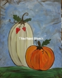 Fall - Rustic Pumpkins - blue