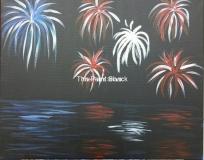 Fireworks - Flag