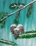 Winter Pinecones