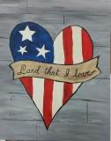 Flag Heart Land That I Love