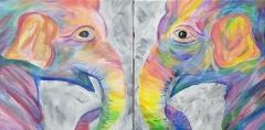 Colorful Elephant - couples