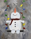 Winter Swinging Snowman