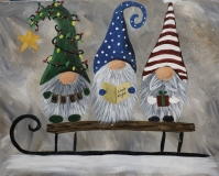 Winter Sledding Gnomes