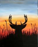 Buck at sunrise/set