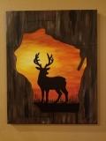 Wisconsin Deer at Sunset