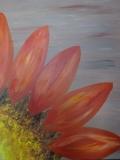 Teal flower Bliss (orange)
