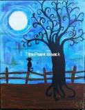 Fall - Spooky Tree - Blue