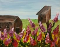 Barn and Birdhouse