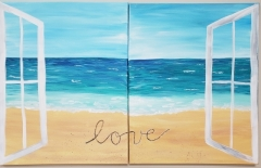 Beachfront View - Couple Paint