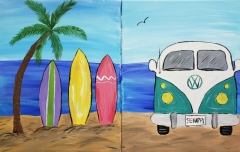 Surfboards and Volkswagon