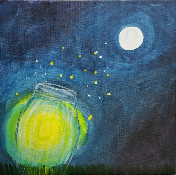 Fireflies in a Jar - moonlight glow