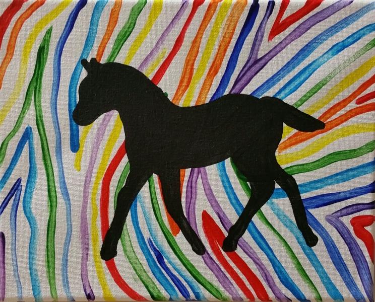 Animal - rainbow zebra