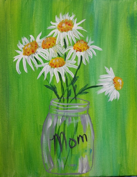 Mason Jar of Daisies for Mom