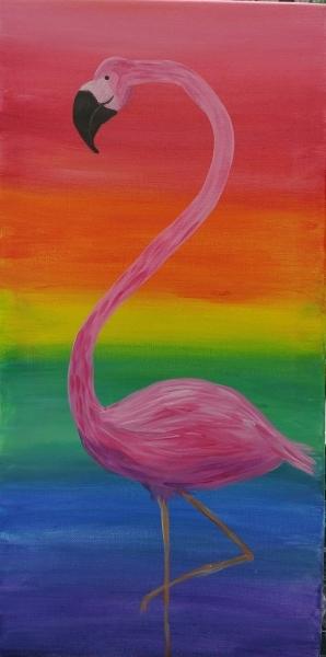 Rainbow Flamingo 10x20