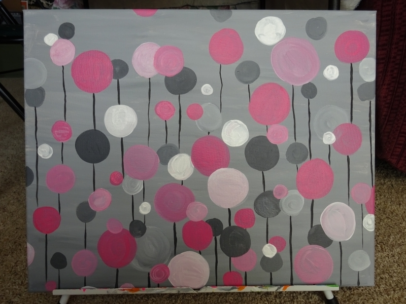 Circle Abstract - pink/gray
