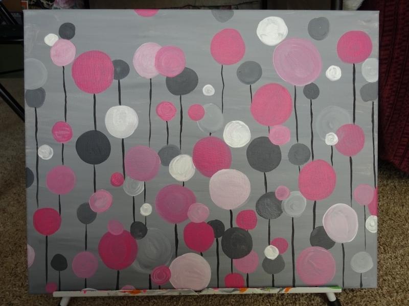 Circle Abstract - pink/gray