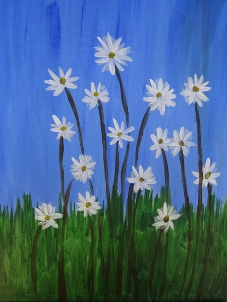 Daisies on a summer day