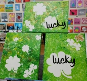 Sticker canvas - Lucky