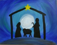 Winter Christmas Simple Nativity