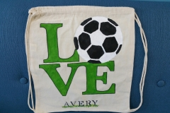 Love Soccer bag