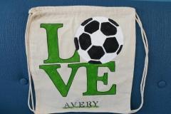 Love Soccer bag