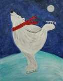 Winter - Polar Bear on Ice Skates