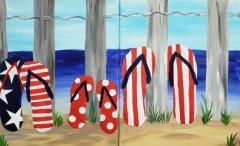 Patriotic Flip Flops - Partner Paint