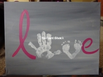 Hand and Foot prints- LOVE