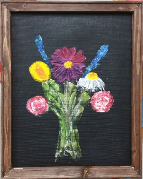 Screen - Flowers